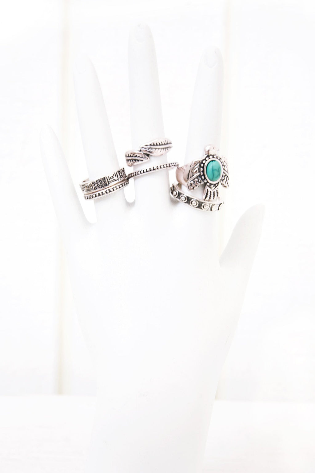 Giada Metal Ring Set - Silver - Haute & Rebellious