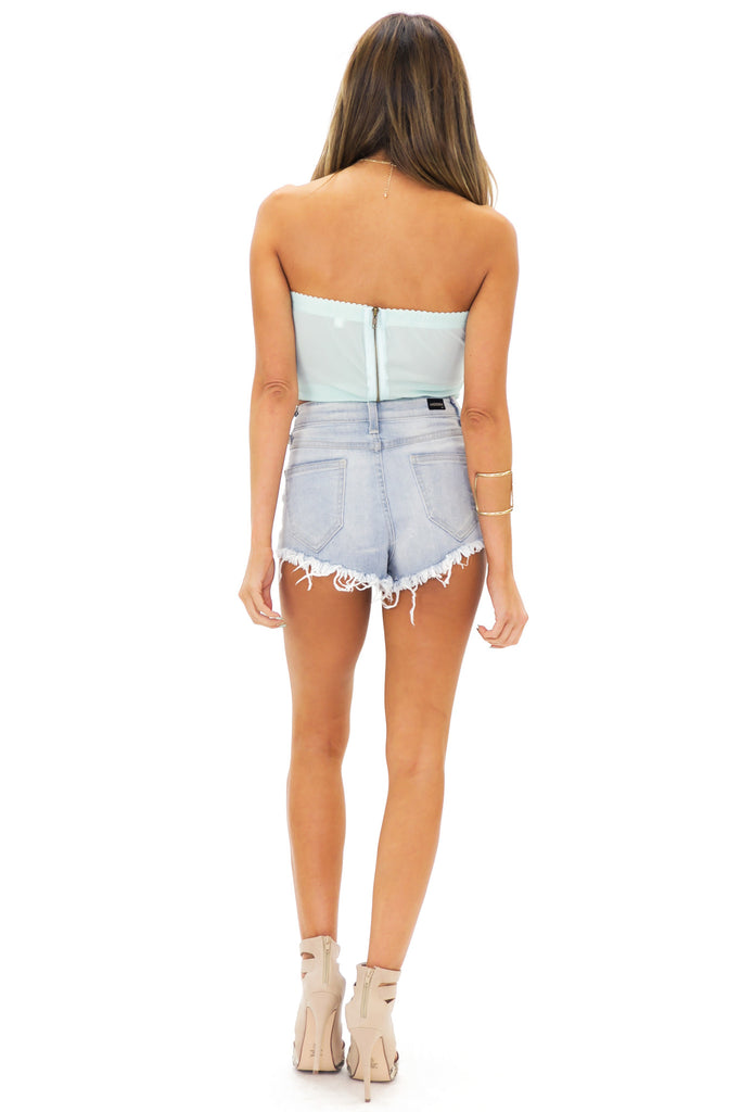 ROSALE LACE BUSTIER - Mint