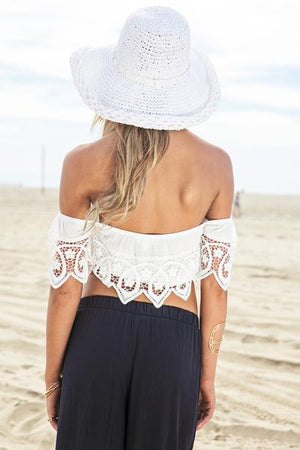 Lena Crochet Off Shoulder Tube Top