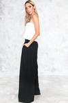 Raya High-Waisted Wide-Leg Pant - Black - Haute & Rebellious
