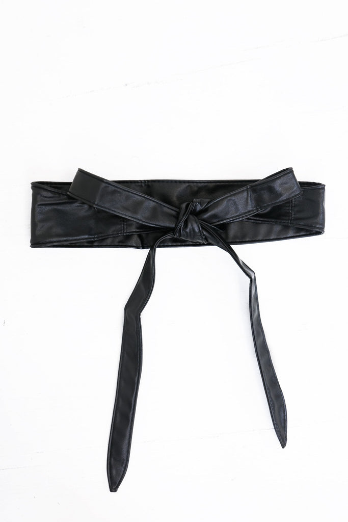 Cailey Leather Belt - Black - Haute & Rebellious