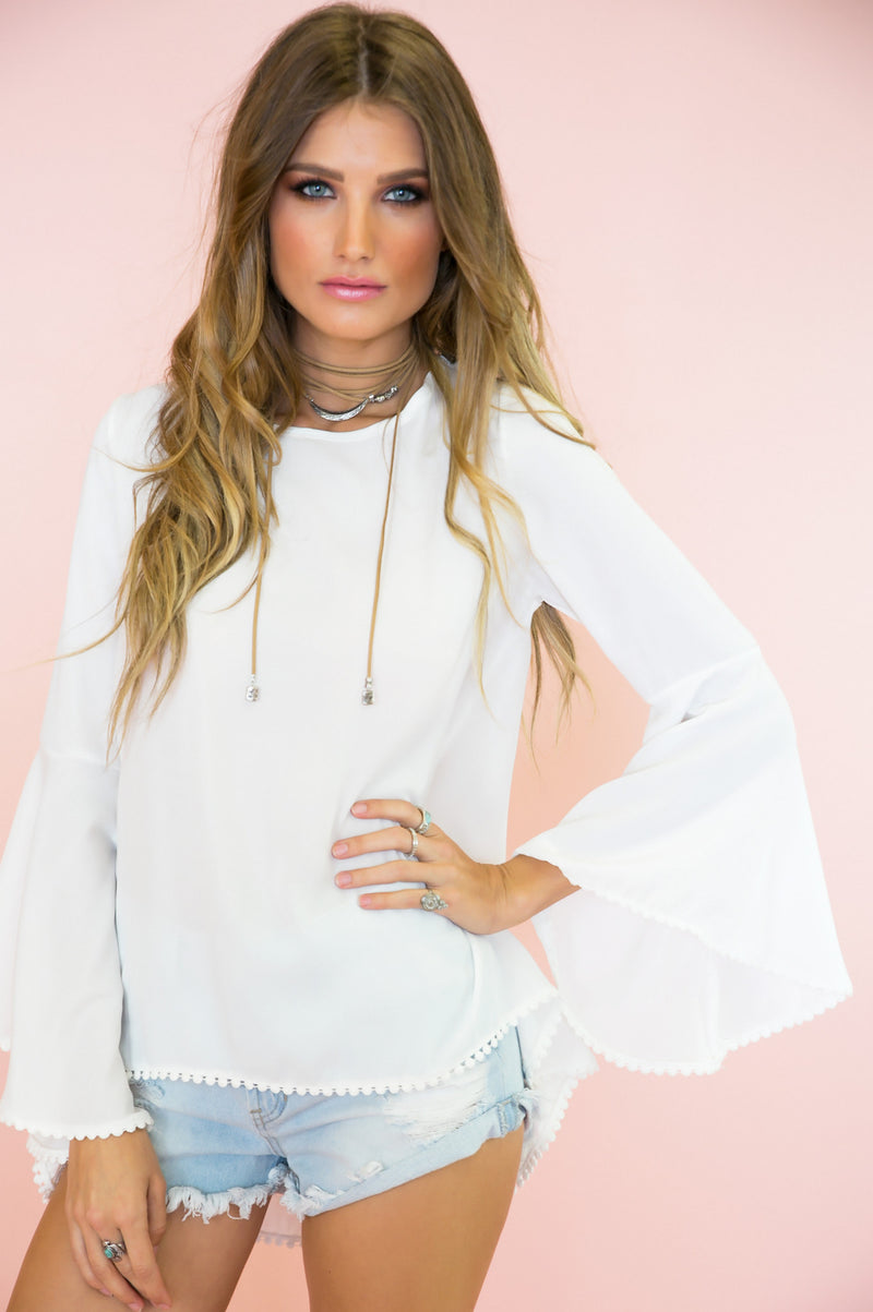 Ring The Bell Sleeve Blouse - Haute & Rebellious