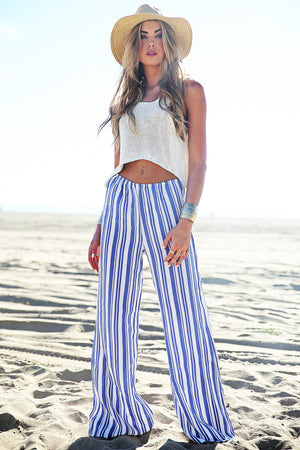 Eisha Striped Linen Beach Pant /// Only 1-S Left /// - Haute & Rebellious