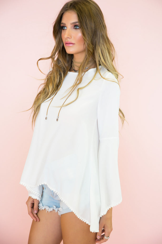 Ring The Bell Sleeve Blouse