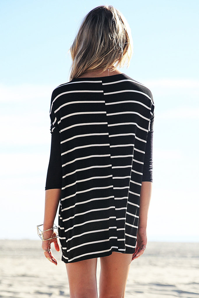 Lars Striped Dolman Sleeve Tunic