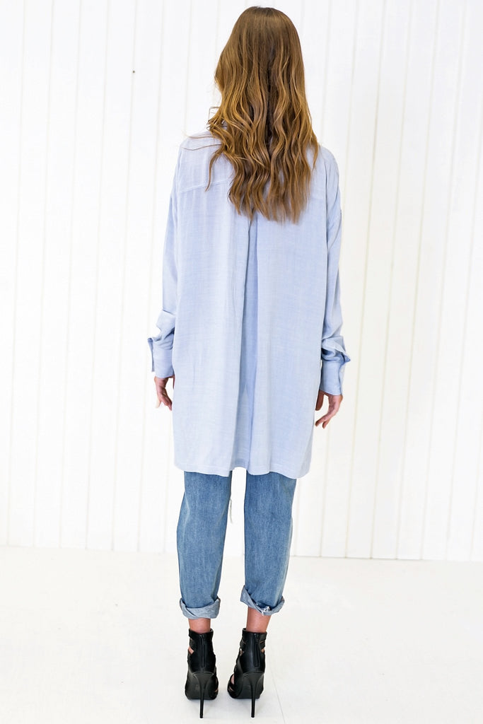 Baan Relaxed Button Shirt - Blue
