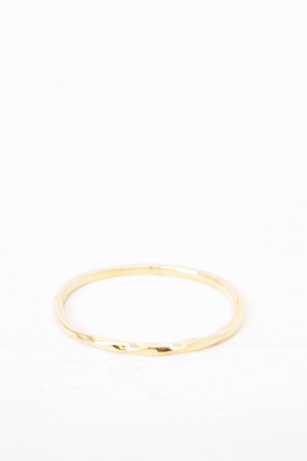 Twisted Gold Metal Bracelet - Haute & Rebellious