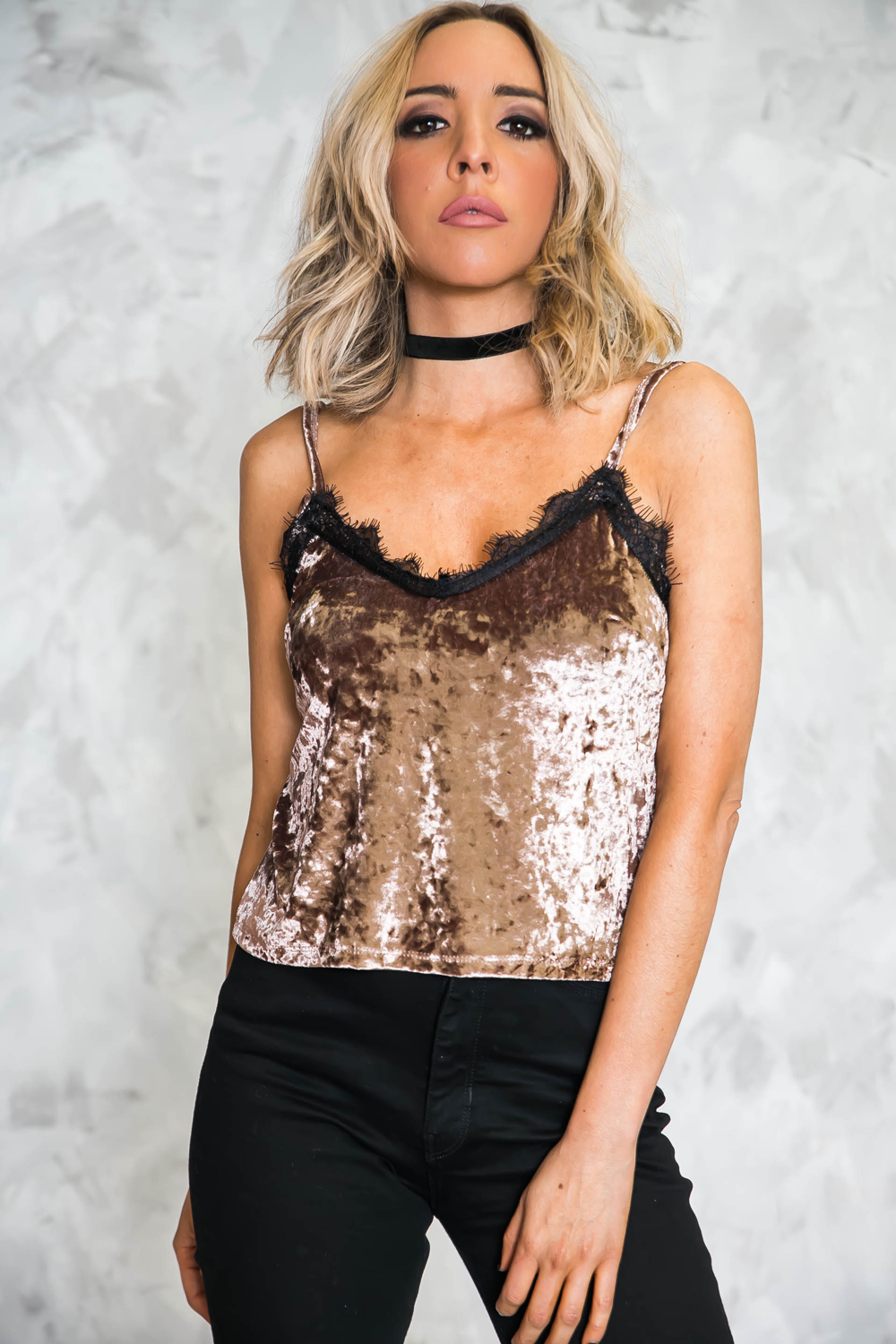 Velvet Lace Cami Top - Haute & Rebellious