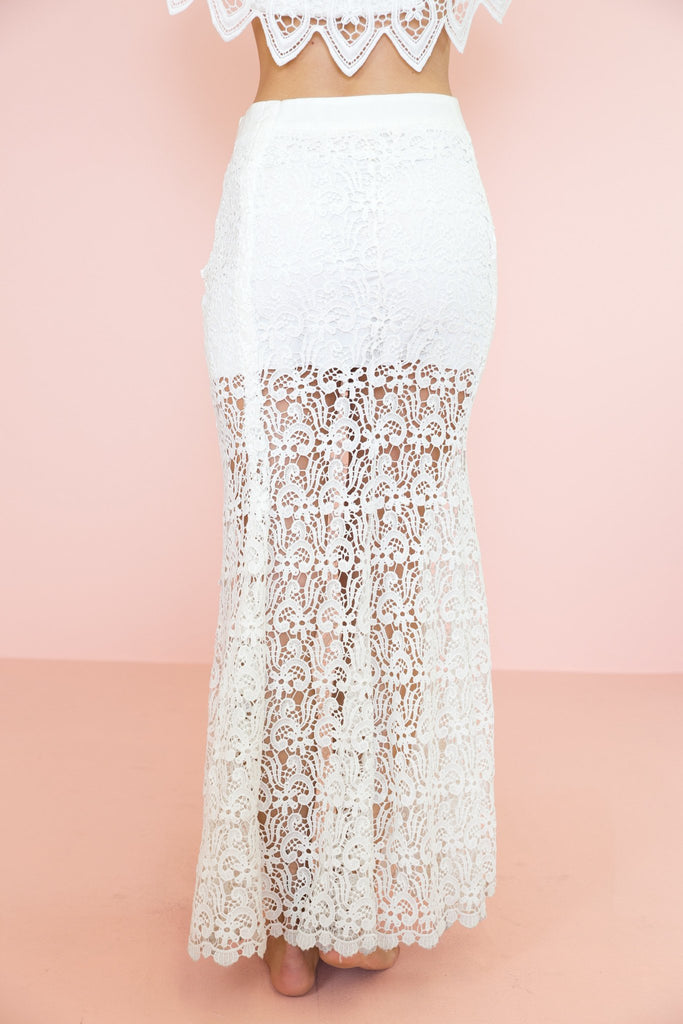 Lenna Lace Long Skirt - White