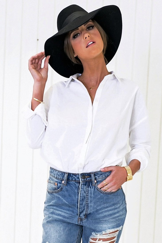 Baan Relaxed Button Shirt - White