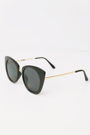 Lana Cat Eye Sunglasses - Black