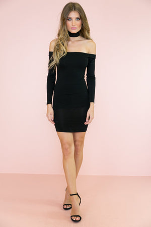 Arsin Body-Con Dress - Black - Haute & Rebellious