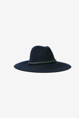 Suede Buckle Floppy Hat