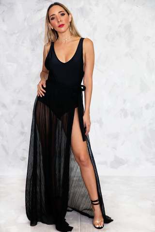 Sequin Jumpsuit with Halter Top