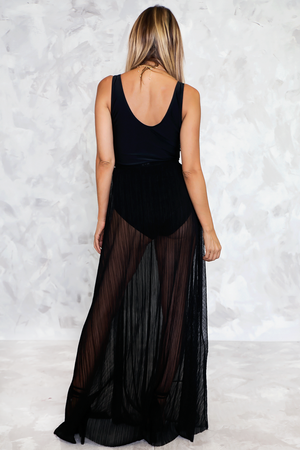 Maxi Skirt with Slit - Haute & Rebellious