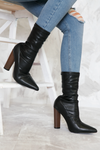 Walk The Talk Sock it Booties - Black Patent - Haute & Rebellious