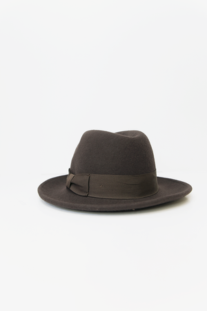 Fedora Wool Hat - Brown