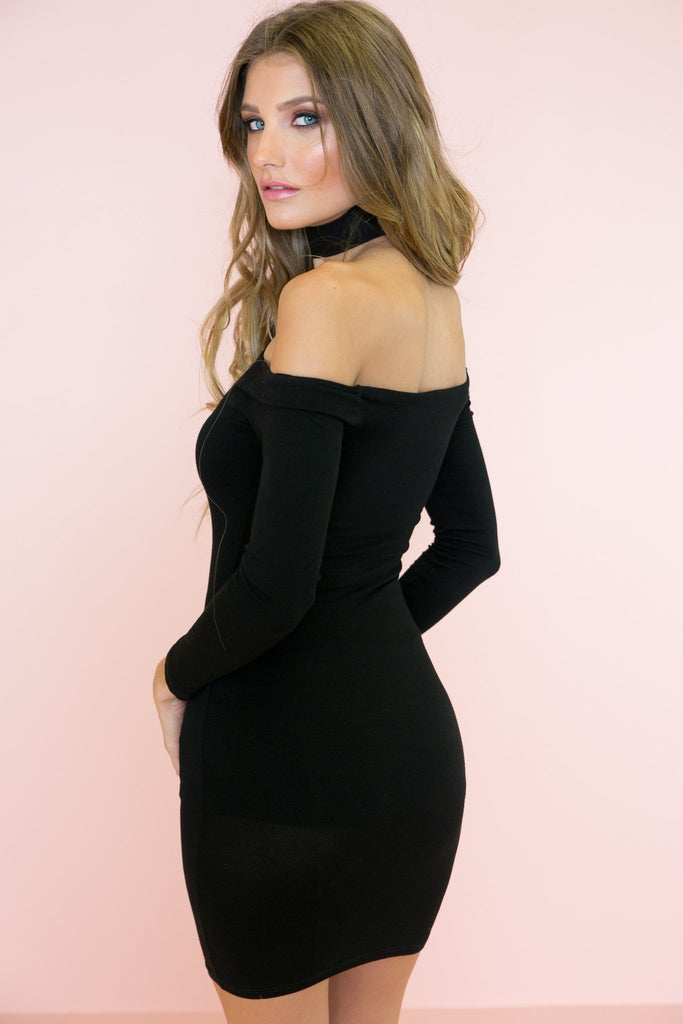 Arsin Body-Con Dress - Black
