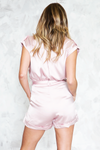 Sleeveless Satin Romper