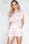 Sleeveless Satin Romper /// Only L Left ///