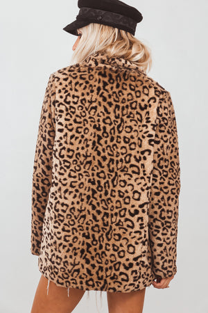 Leopard Faux Fur Coat