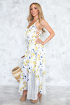 Floral & Lace Maxi Dress - Haute & Rebellious