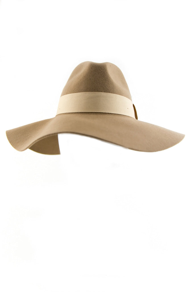 Ahnna Wool Floppy Hat - Camel