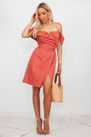 Wrap Linen Dress with Belt
