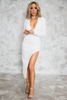 All Night Sequin Midi Dress - White /// ONLY 1-M LEFT/// - Haute & Rebellious