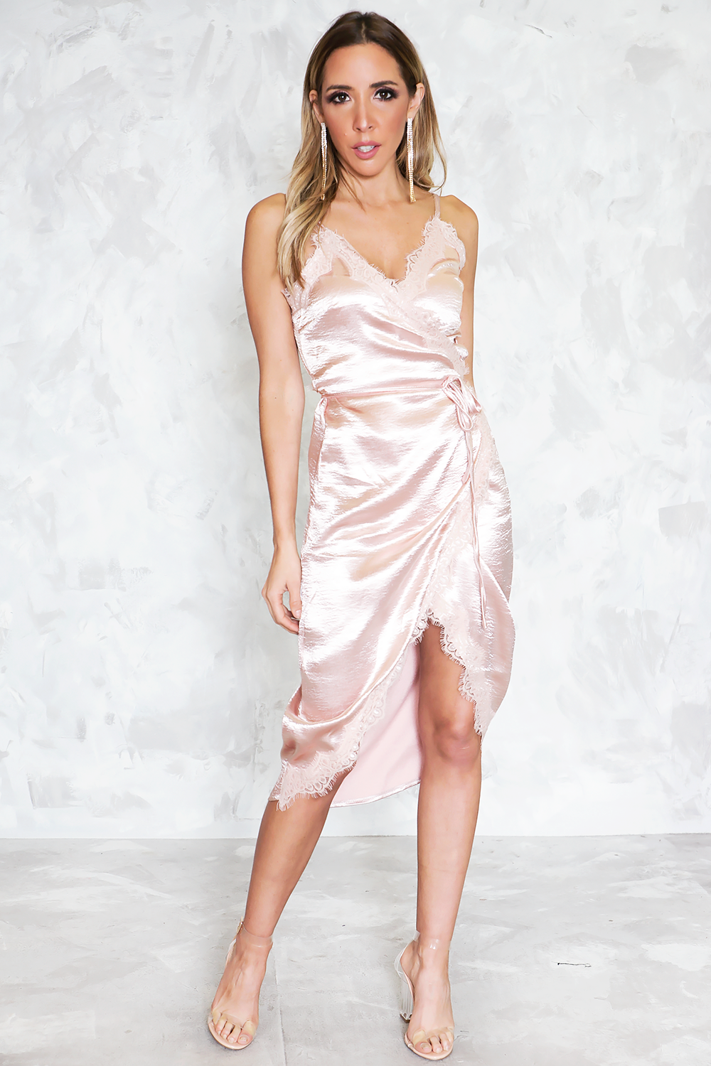 Satin Wrap Dress