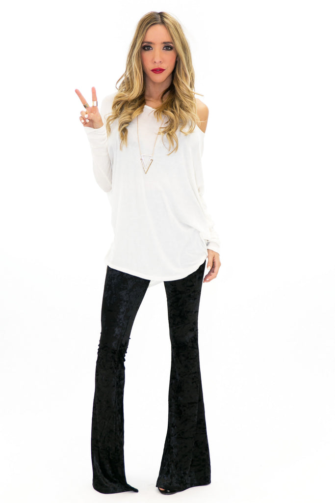 Zoe Velvet Bell Bottom Pants