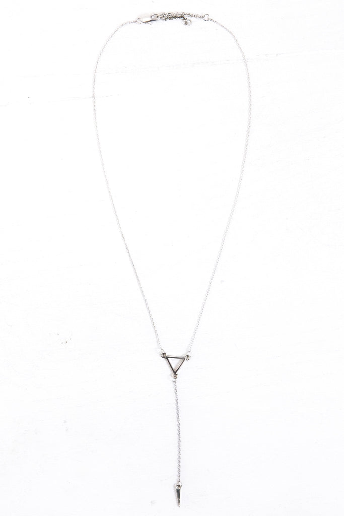 Jade Petite Layering Necklace - Silver