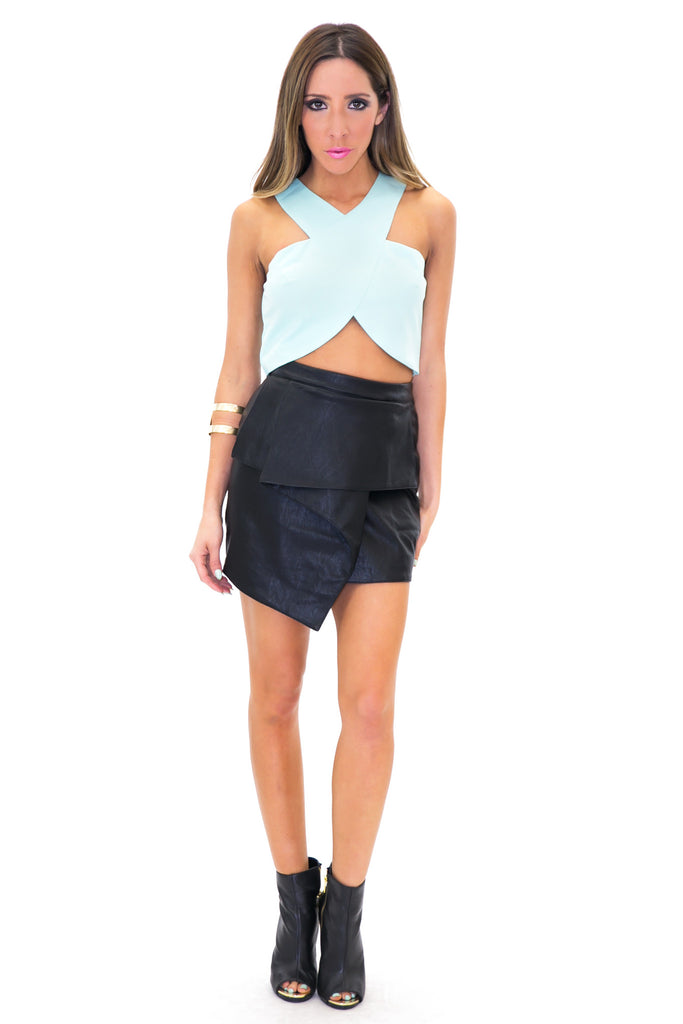 RECKER CROSS CROP TOP - Pistachio - Haute & Rebellious
