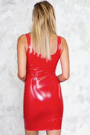 Faux Show Patent Leather Mini Dress - Haute & Rebellious