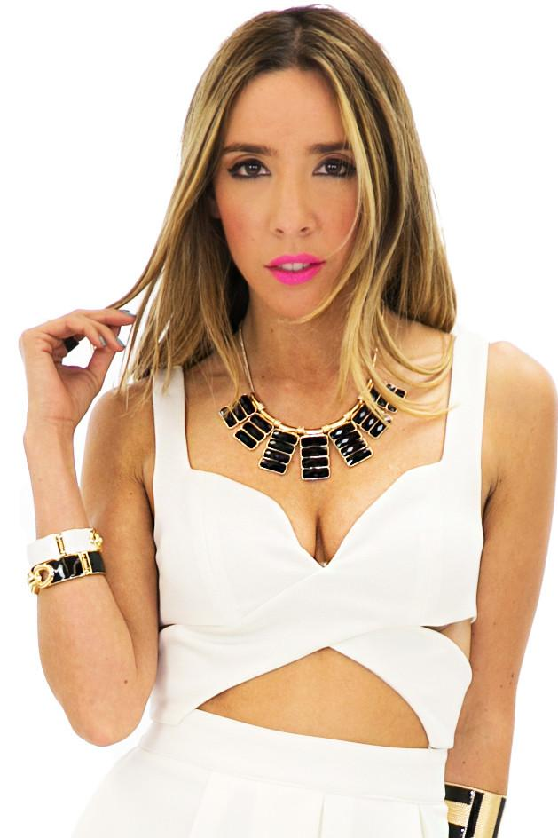 CUTOUT BRALET TOP - White