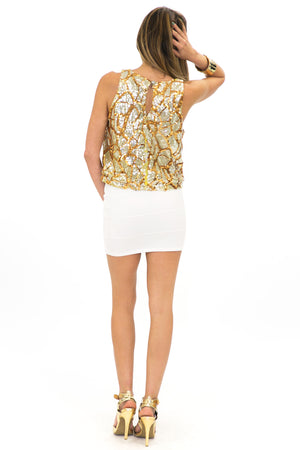 SWIRL SEQUIN TOP - Haute & Rebellious