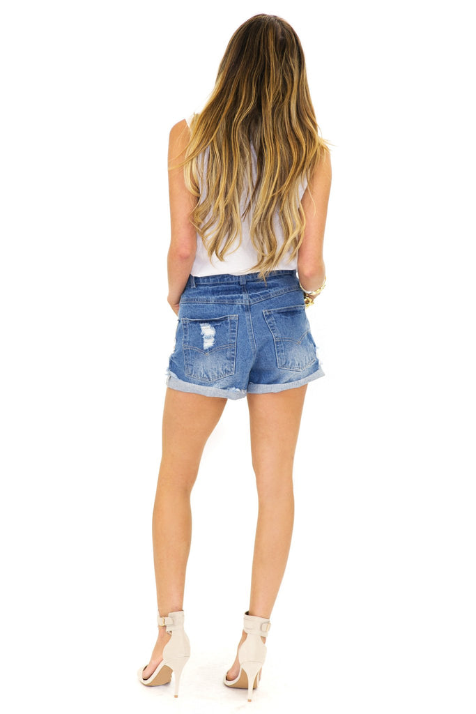 BENNIT JEWELED DENIM SHORTS