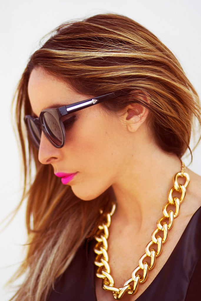 ECLECTIC FRAME SUNGLASSES - Black