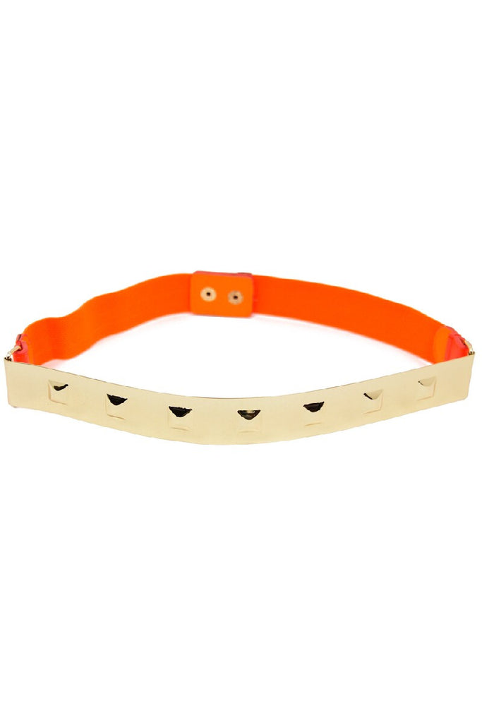 THIN GOLD PLATED BELT - Orange