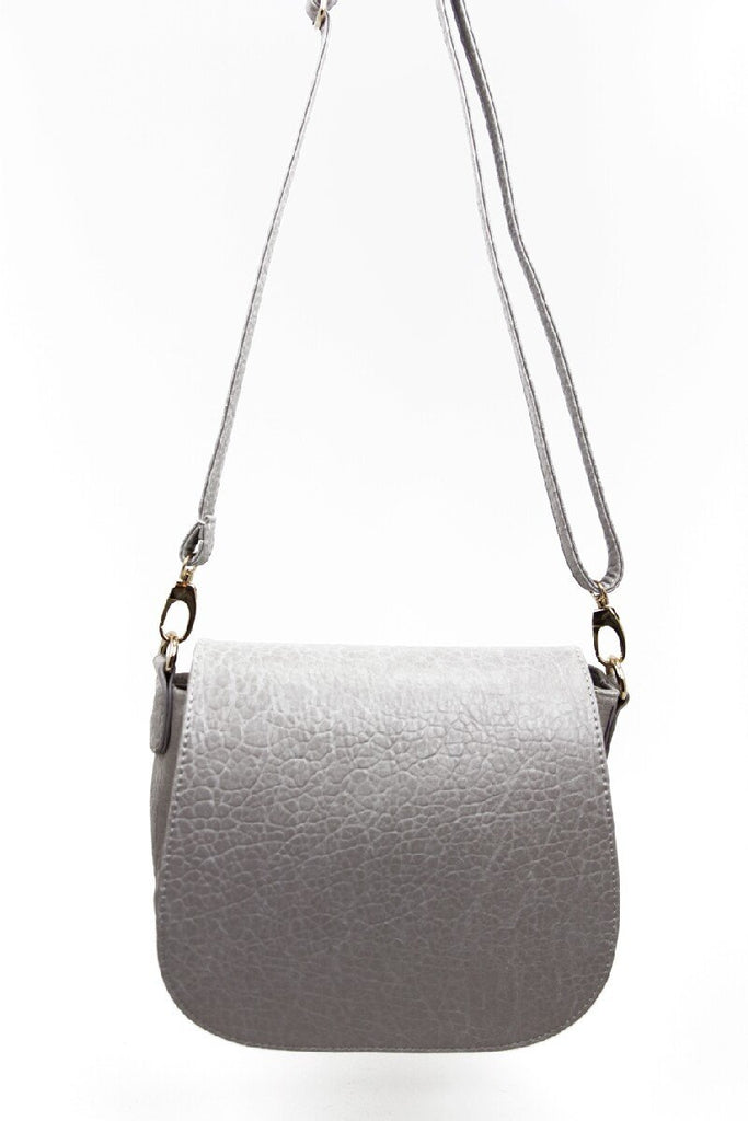 GOLD STUDDED SATCHEL - Gray - Haute & Rebellious