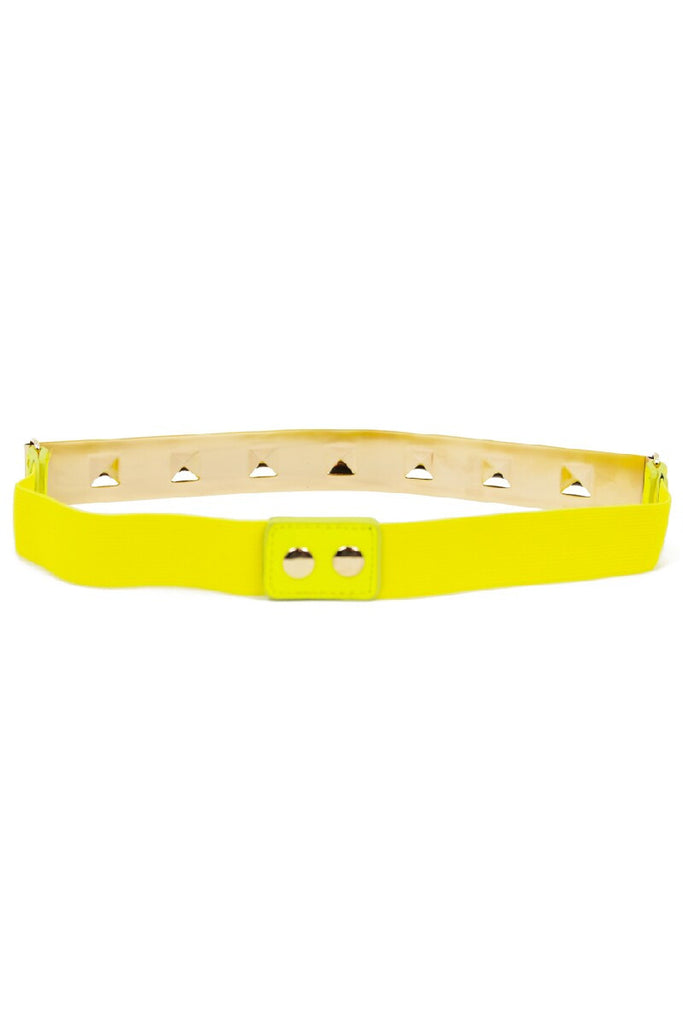 THIN GOLD PLATED BELT - Yellow