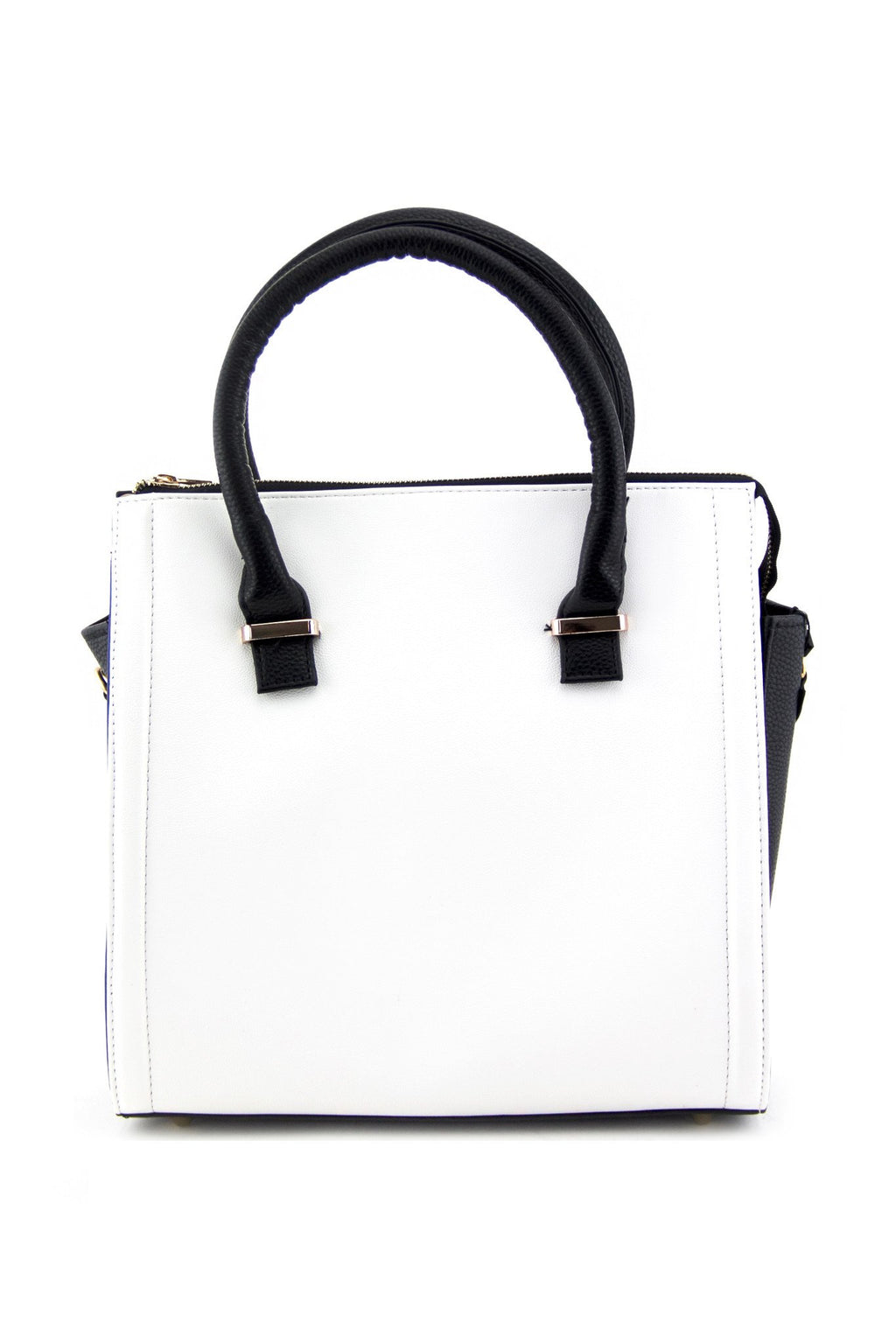 NONA HANDLE BAG - White/Black - Haute & Rebellious