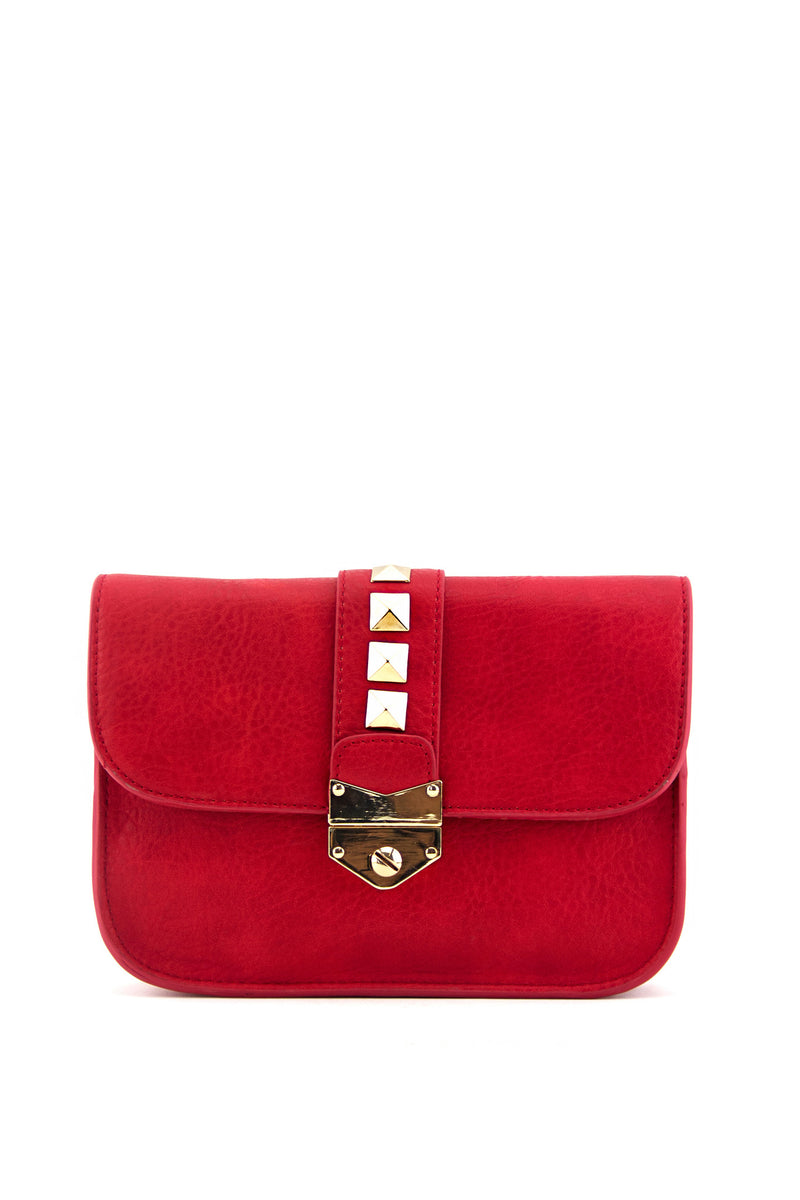 REBA STUDDED BAG - Red - Haute & Rebellious
