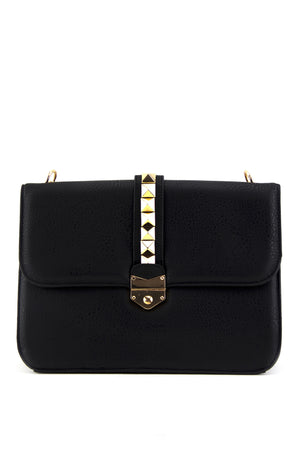 REBA LARGE STUDDED BAG - Black - Haute & Rebellious