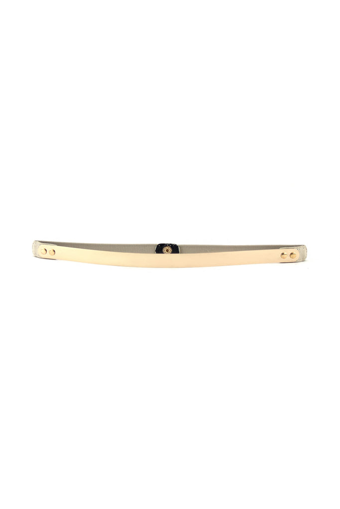 THIN GOLD PLATED BELT - Cream