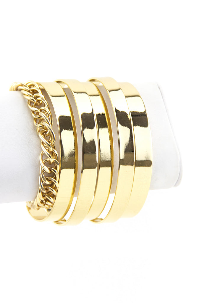 SIREN PLATED BANGLE CUFF