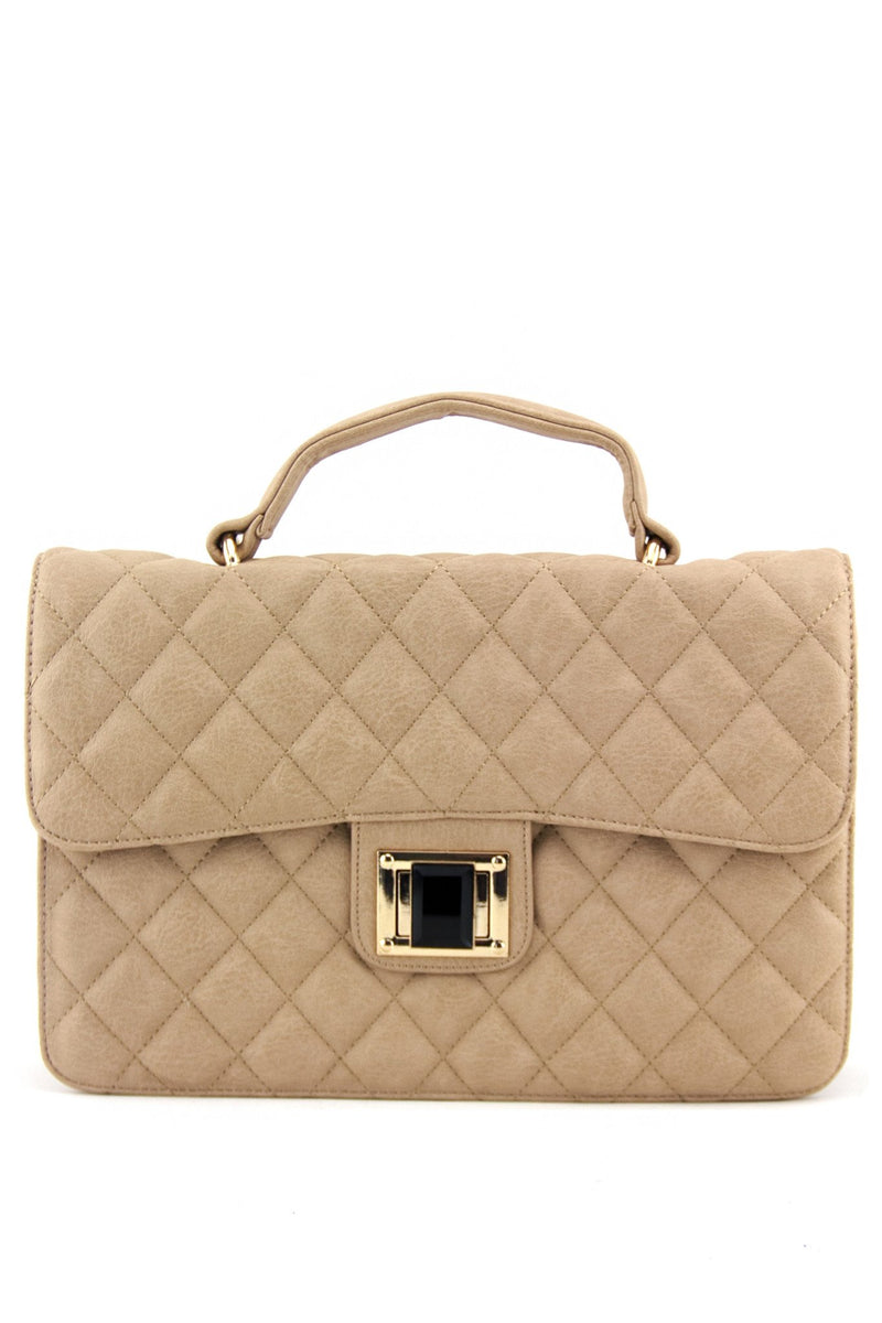 NEL CLASSIC QUILTED BAG - Nude - Haute & Rebellious