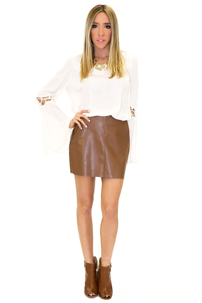 MARION VEGAN LEATHER SKIRT