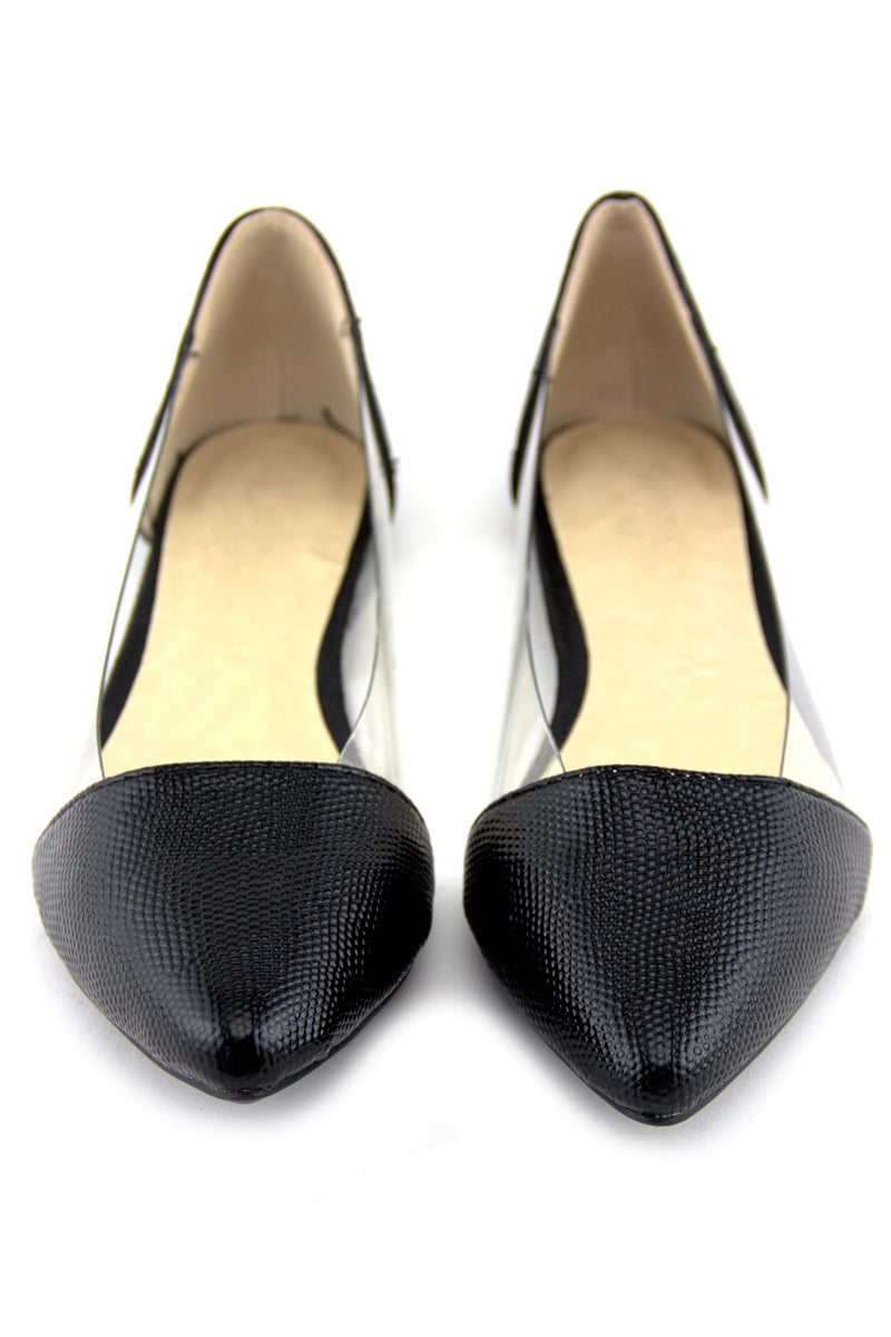 POINTY CLEAR CONTRAST FLAT - Haute & Rebellious