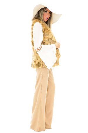 WIDE BRIM FLOPPY HAT - White - Haute & Rebellious